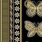 Metallic Lace Stripe Black