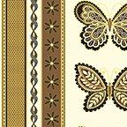 Metallic Lace Stripe Ivory