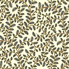 Metallic Leaf Scroll IvoryGold