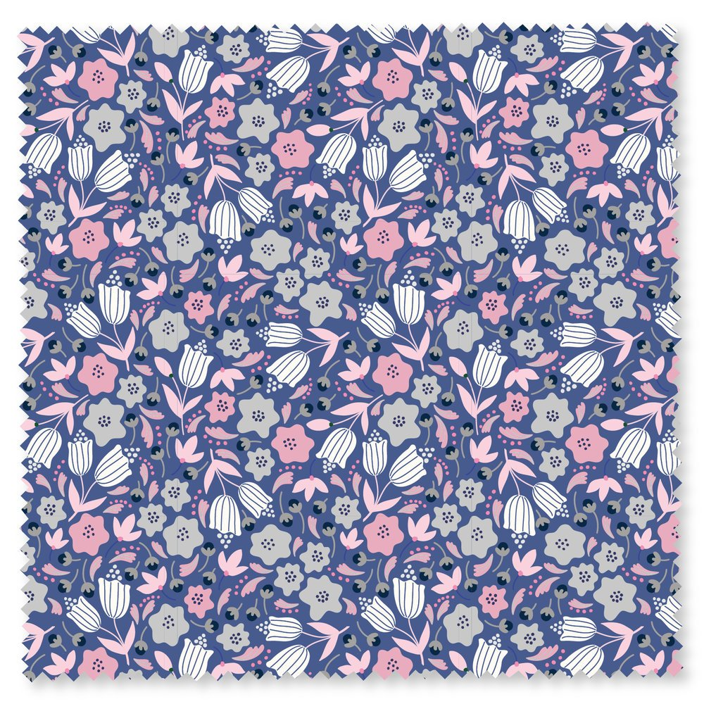Pink/Grey Flowers