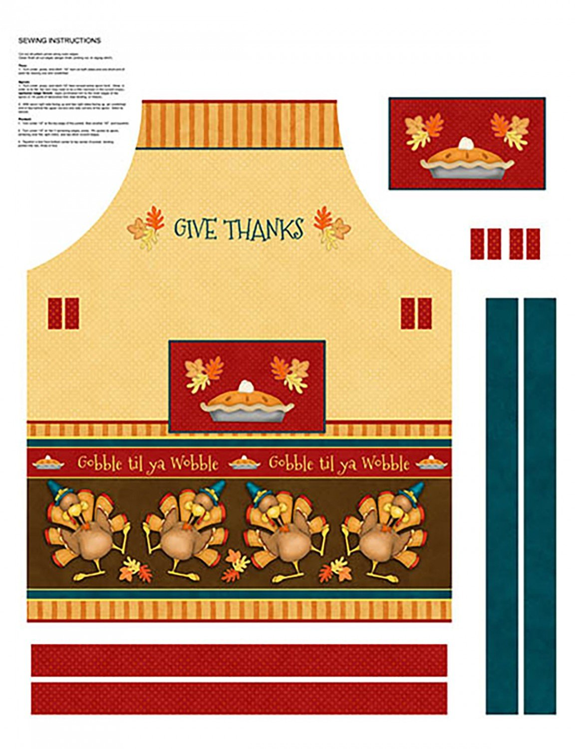 Give Thanks, Multi Apron Panel