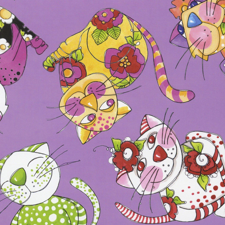 Calico Cats Toss, Purple