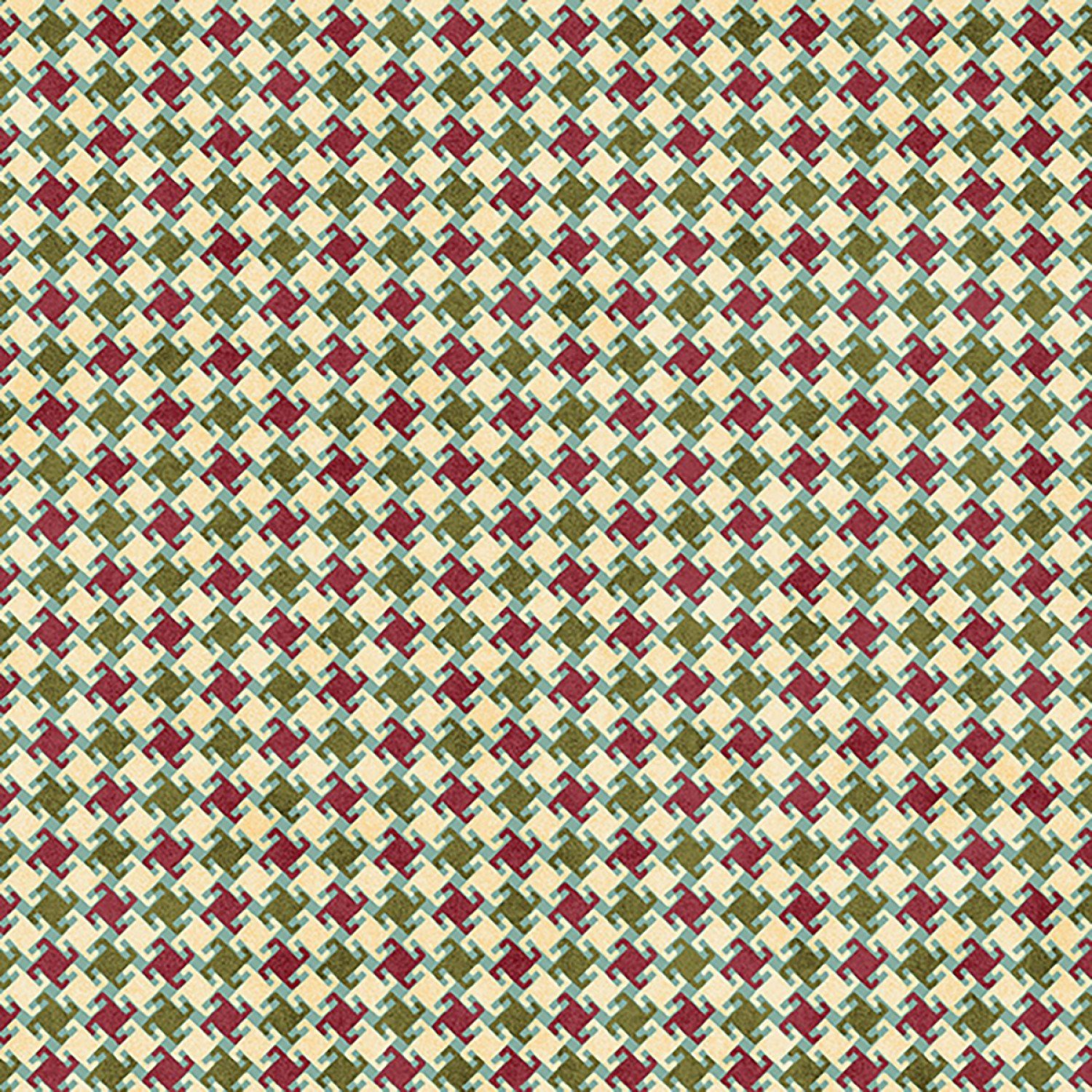 My Precious Quilt, Red/Green Houndstooth
