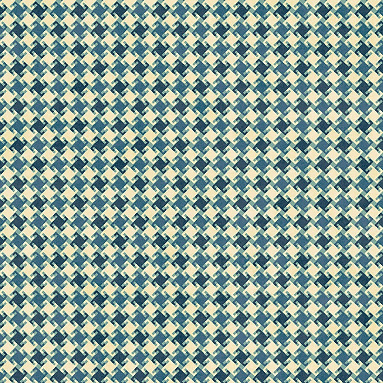 My Precious Quilt, Blue Houndstooth