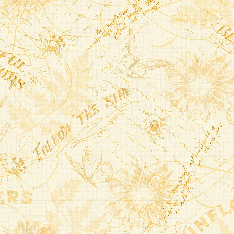 Follow The Sun, Cream/yellow Toile