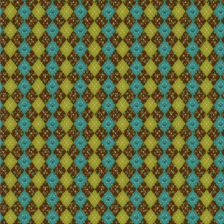 Argyle Texture, Brown, No Flow Play