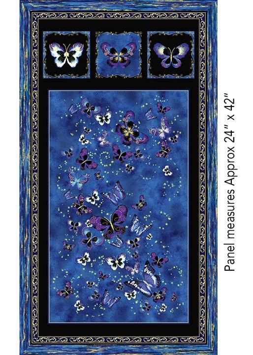 Butterfly Jewel Panel Royal