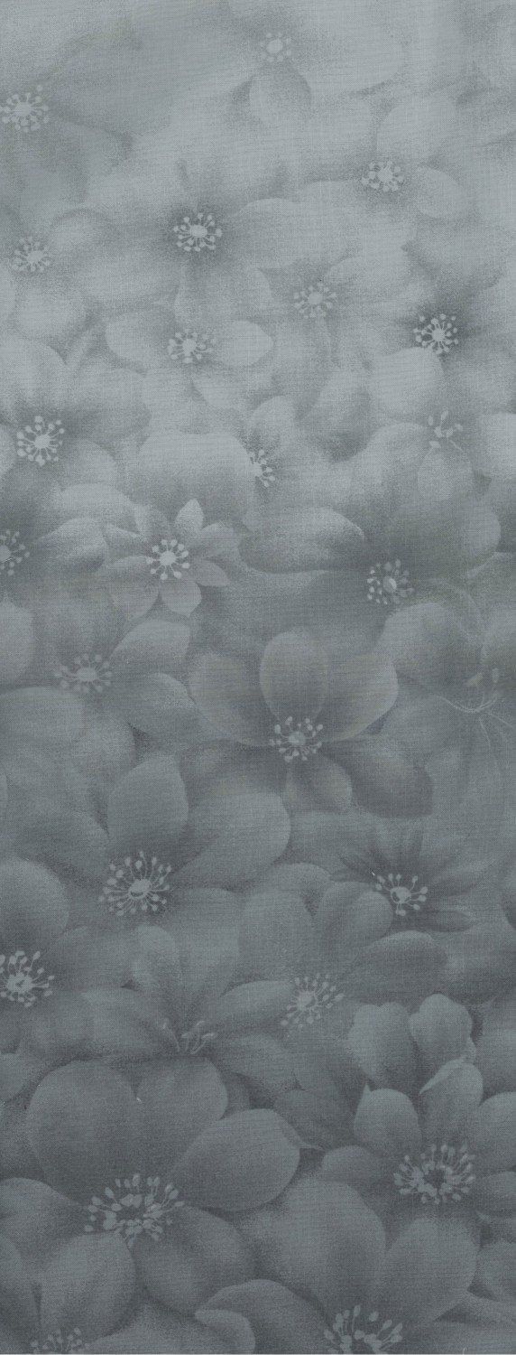 Serenity Ombre, Grey/Blue Flower