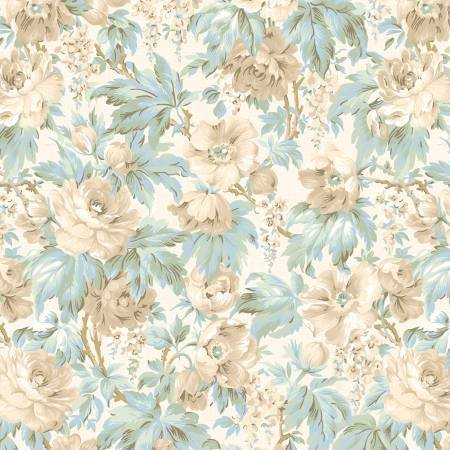 Cream Packed Floral