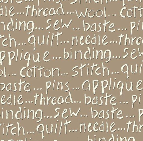 My Sewing Room, Tan Words