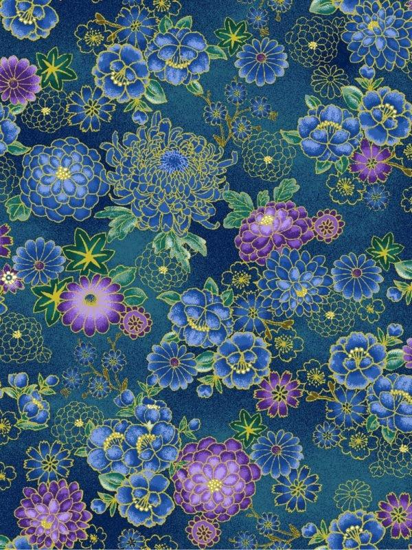 Asian Garden, Sm. Floral Metallic