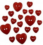 Asst. Red Heart Buttons