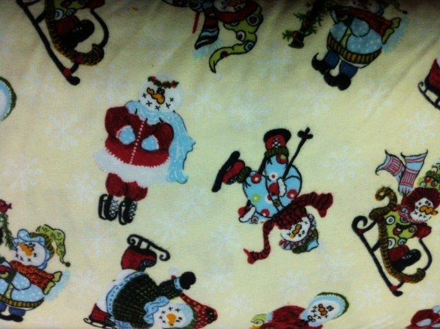 Lg Snowmen on Yellow, 1810-1