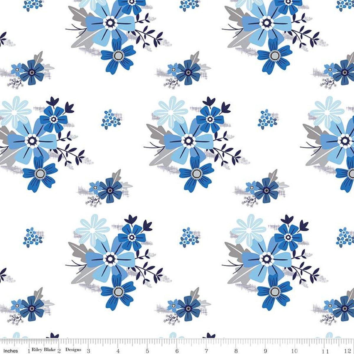 Main White, Blue Stitch