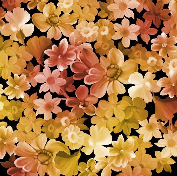 Les Fleurs, Gold Packed Flowers