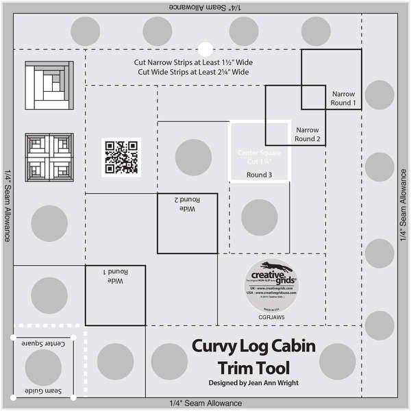 Creative Grids Log Cabin Trim Tool Two - 6 & 12