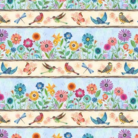 Floral Flight Stripe