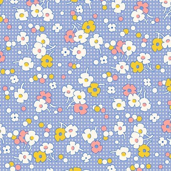 Floral Dot, Blue, Nana Mae