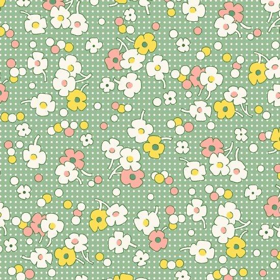 Floral Dot, Green, Nana Mae