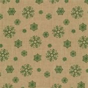 Ecru/Green Snowflakes - Postcard Holiday
