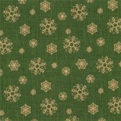 Green Snowflakes - Postcard Holiday