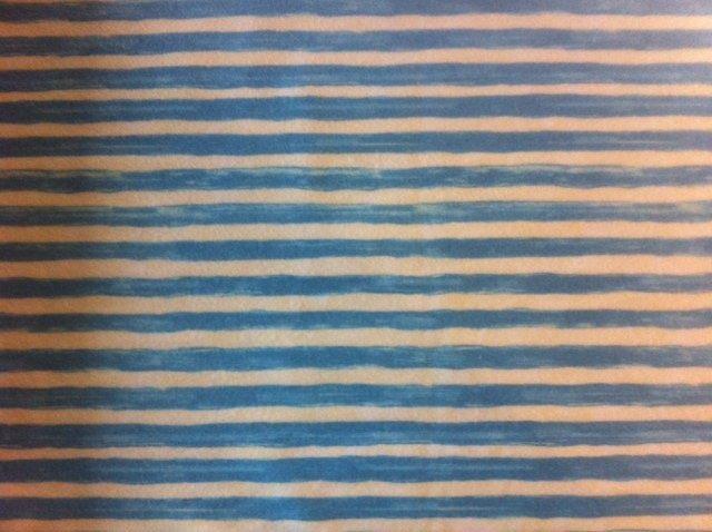 Lt. Blue & Cream Stripe, Flannel, 1814-1