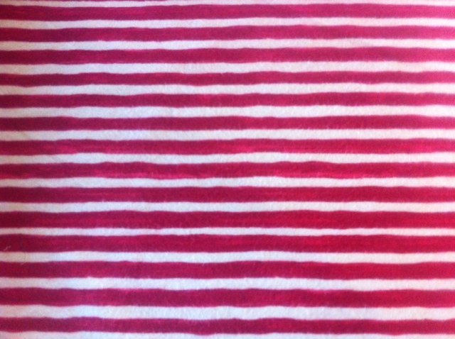 Red & Cream Stripe, Flannel,1814-2