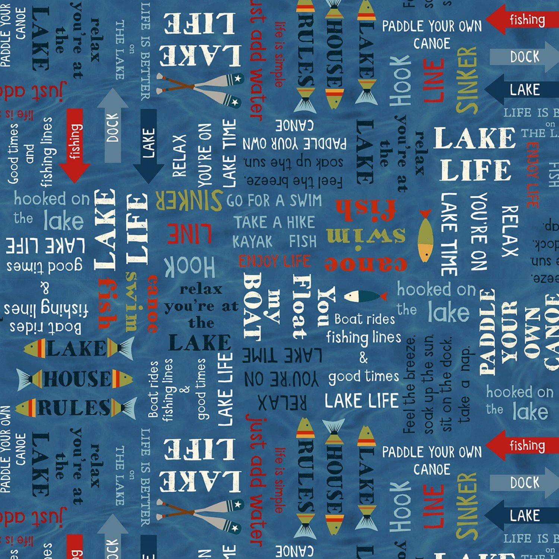 Blue Word Toss, Lake Life