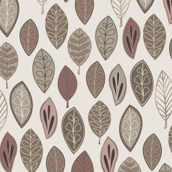 Floating Leaves, Taupe/Blush, Neutral Ground