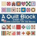 Quilt Block 2016 Calendar