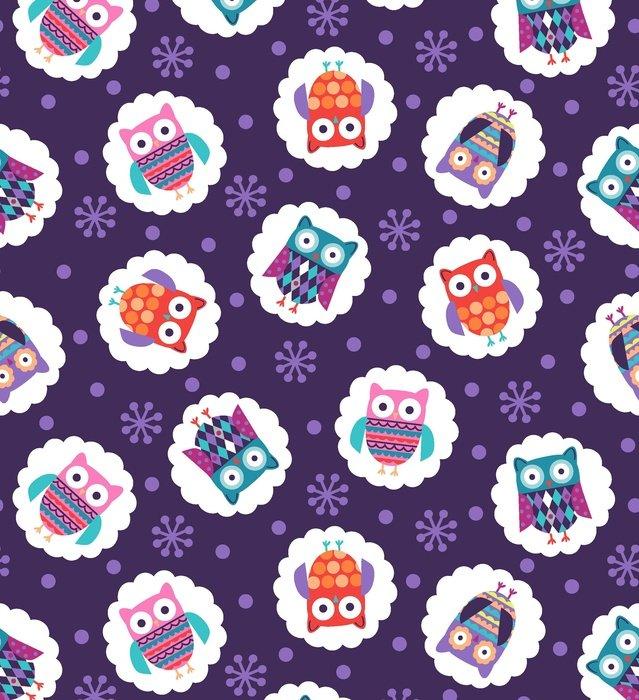 Wings-N-Things Owls on Purple