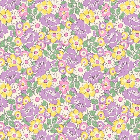 Packed Floral, Lavender, Nana Mae