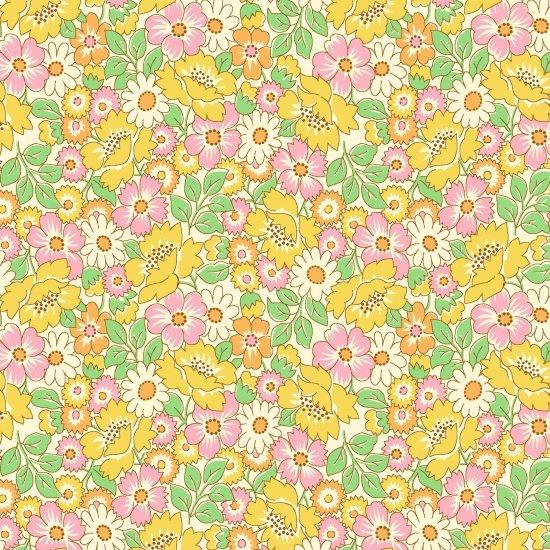 Packed Floral, Yellow, Nana Mae