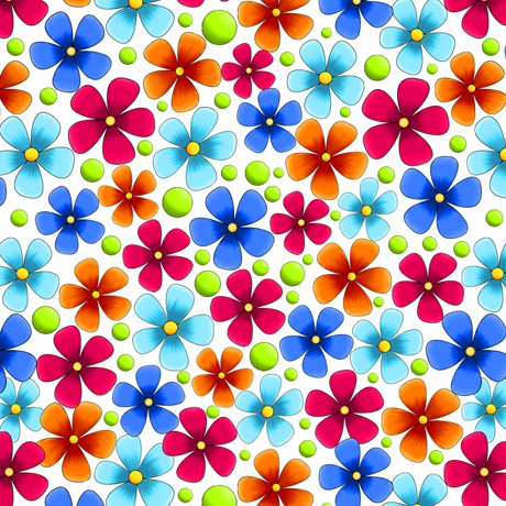 Jubilee, Packed Flowers, White