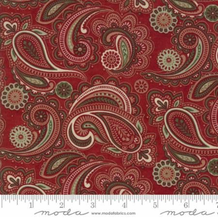 Christmas Winter Paisley Red