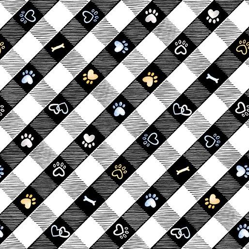 Puppy Lane Plaid, Black