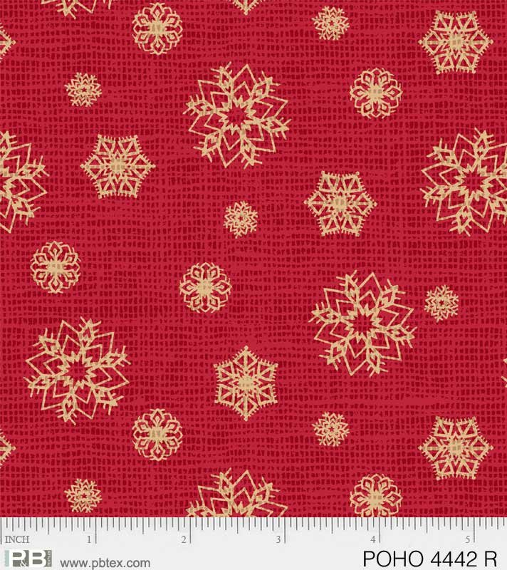 Gold Snowflakes, Postcard Holiday