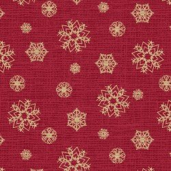 Red Snowflakes - Postcard Holiday