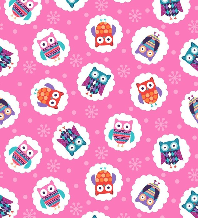 Wings-N-Things Owls on Pink