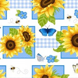 Sunny Sunflowers, Squares