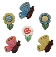6 pc Carded Buttons