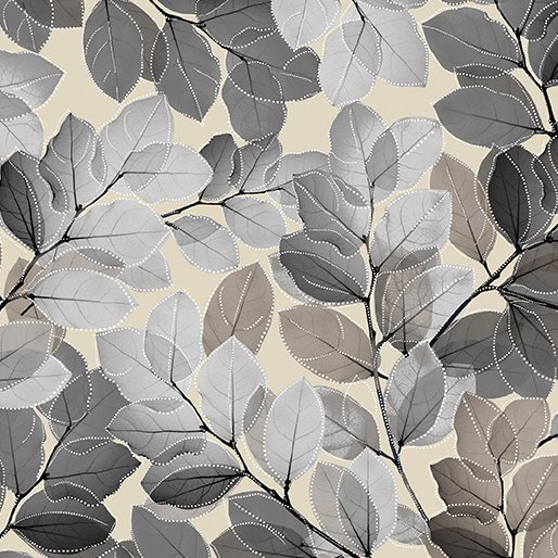 Sheer Leaves Beige