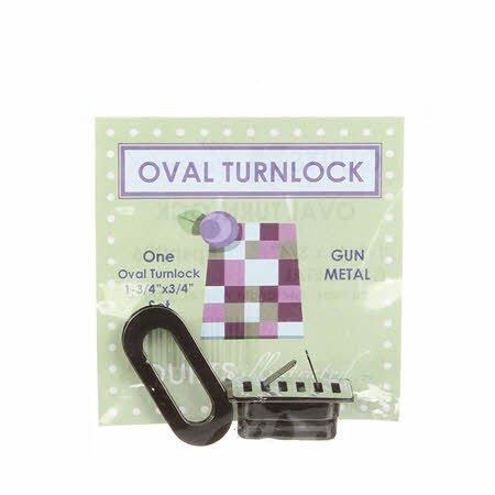 Oval Turnlock-Shiny Gun Metal
