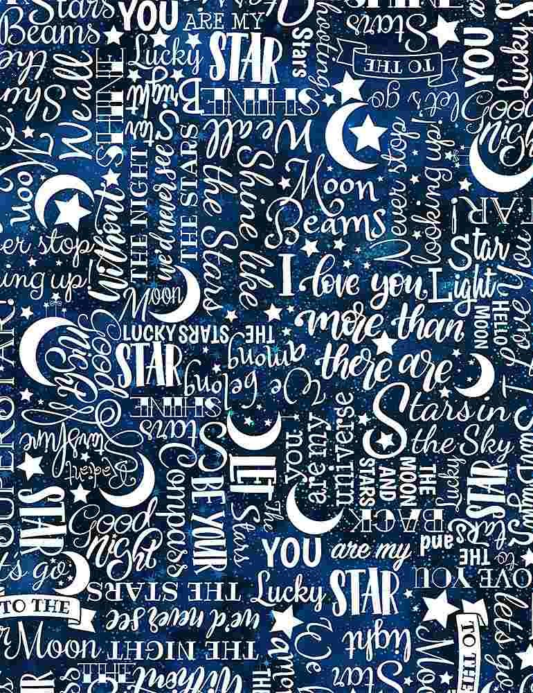 I Love You to the Moon, Stars Text