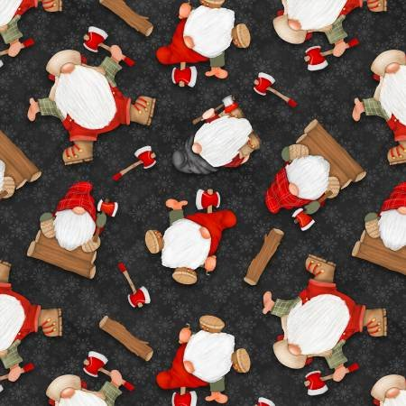 Tossed Gnomes, Blk.