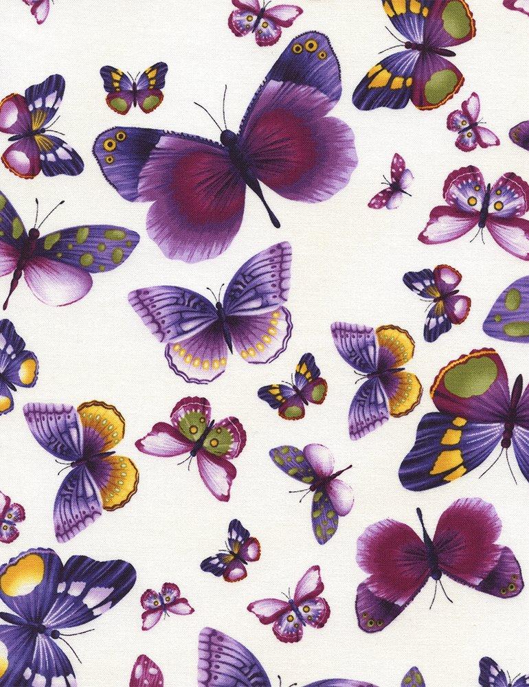 Viola, Timeless Treasures, Butterflies