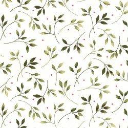 Leaves on White, Wild Rose