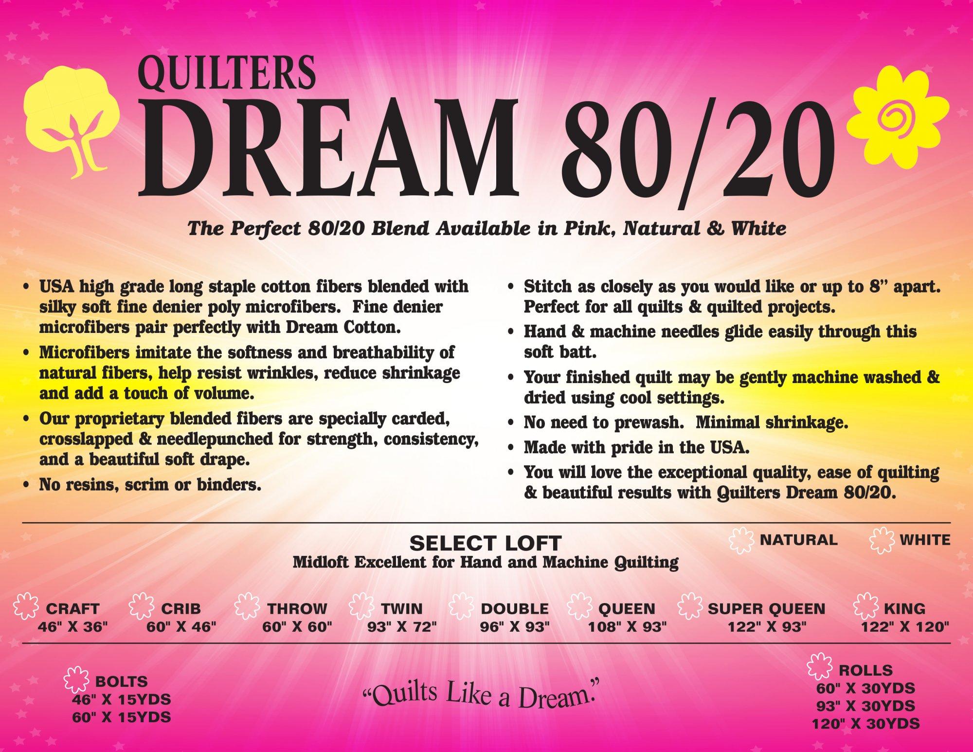 Dream 80/20 Natural Twin 93 x 72
