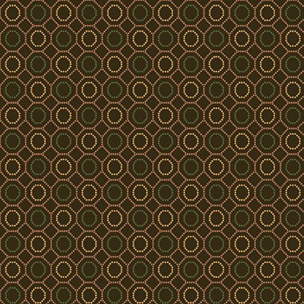 9130-33 Brown Dotted Hexies