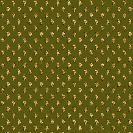 9132-66 Green Pressed Leaves